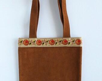 Vintage 90s Ralph Lauren Polo Jeans Co. Suede Hippie Bag 4fd1845c843ef