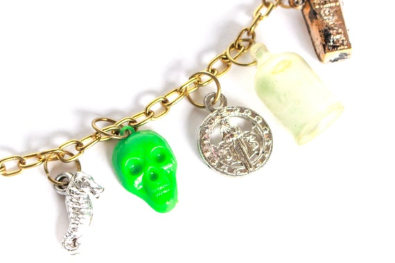 Vintage Voodoo Charm Bracelet, Vintage Charm Brac… - image 2