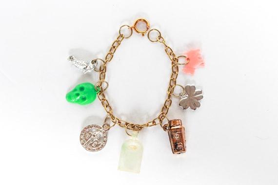 Vintage Voodoo Charm Bracelet, Vintage Charm Brac… - image 1