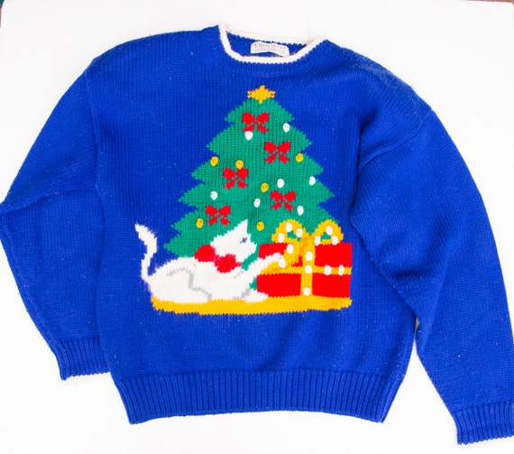 Ugly Christmas Sweater, Ugly Holiday Sweater, Vint