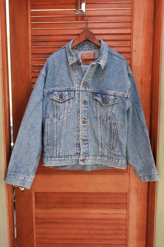 Vintage Levis Trucker Jacket, 1980s Levis 80s Lev… - image 4