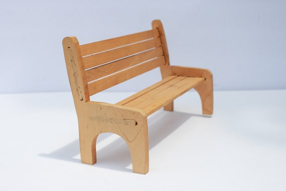 Enjoyable Miniature Bench For Dolls Doll Bench Small Wooden Bench For Ceramic Figurines Park Bench Small Bench Doll Furniture Bralicious Painted Fabric Chair Ideas Braliciousco