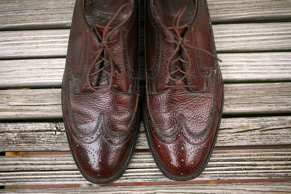 d4b1acf6c4f85 Vintage Brown Leather Mens Shoes - Vintage Florsheim Imperial Wingtip  Oxford Mens Dress Shoes - Oxfords Size 11 1960s 60s