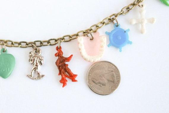 Vintage Pirate Booty Charm Bracelet, Lucky Charm … - image 7