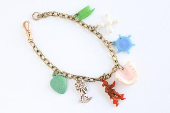 Vintage Pirate Booty Charm Bracelet, Lucky Charm … - image 4