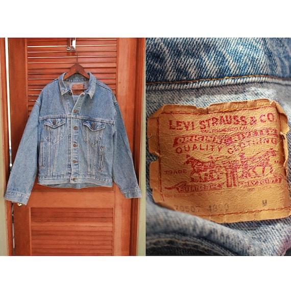 Vintage Levis Trucker Jacket, 1980s Levis 80s Lev… - image 1
