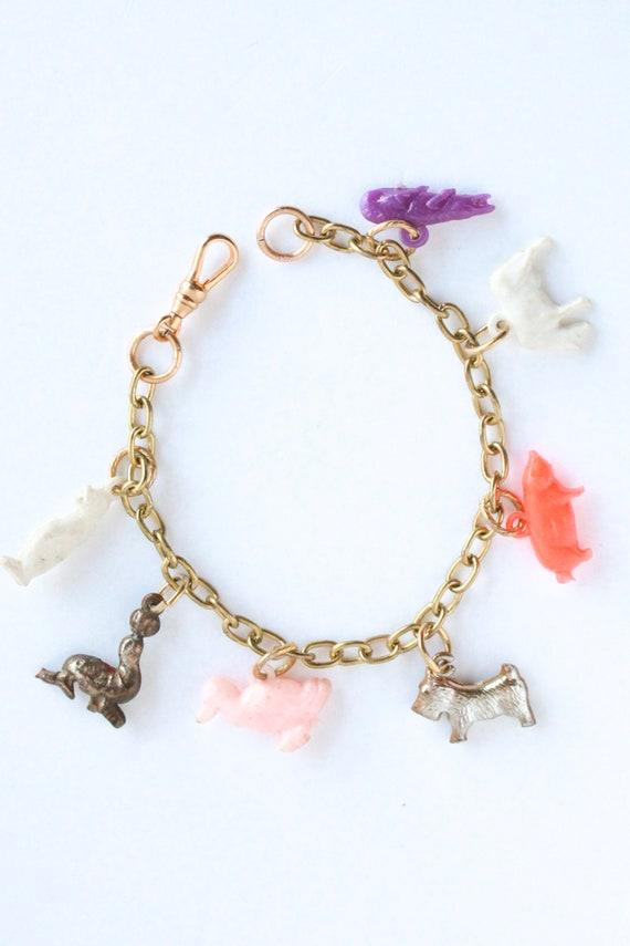 Vintage Tomboy Charm Bracelet, Lucky Charm Bracel… - image 1