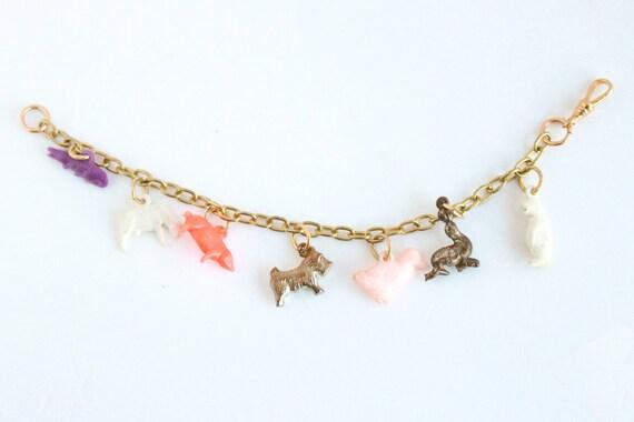 Vintage Tomboy Charm Bracelet, Lucky Charm Bracel… - image 2