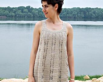 Crochet Pattern, woman  tunic,  tank top, women sweater, crochet dress, beach cover up, clothing DIY, photo tutorial