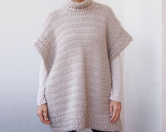 Crochet Pattern Star dust poncho, women bulky sweater,  women pullover, chunky cardigan, clothing , Instant download