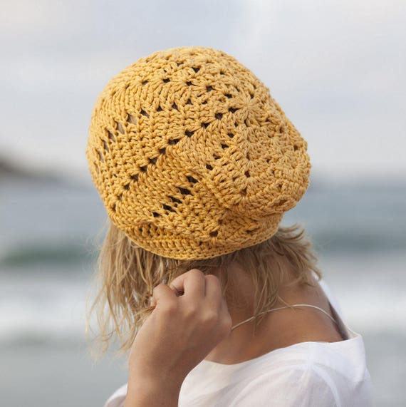 Crochet Pattern Slouchy Chevron Hat Woman Ripples Hat Zig Etsy