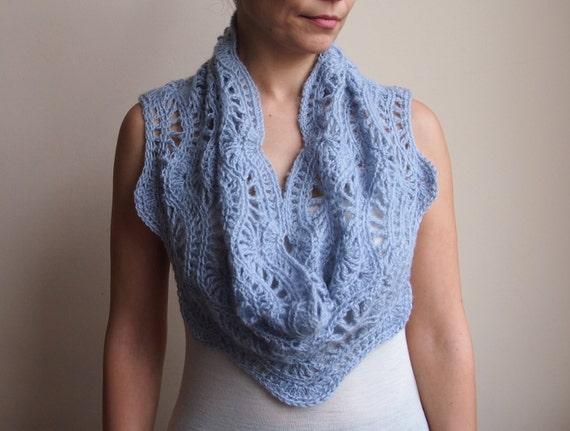 Infinity Scarf Crochet Pattern Circle Scarf Woman Ripples Etsy