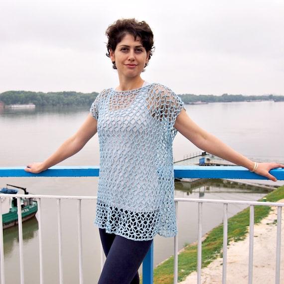 Crochet Pattern, woman sweater lace tunic, tank top, women clothing,  crochet dress, beach cover up, DIY, photo tutorial