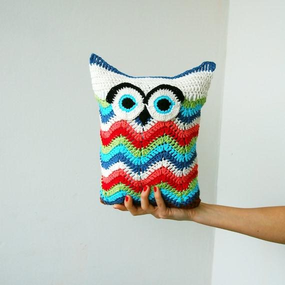 Crochet PATTERN owl toy cuddle pillow owl soft toy chevron   Etsy
