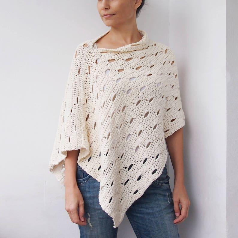 Crochet Pattern Wink poncho woman wrap  beach cover up women image 0