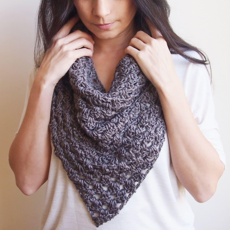 Crochet Pattern Women Cowl Bandana Neckwarmer Granny Triangle Etsy