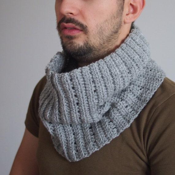 Crochet Pattern Men Cowl Men Neckwarmer Loop Scarf Man Etsy
