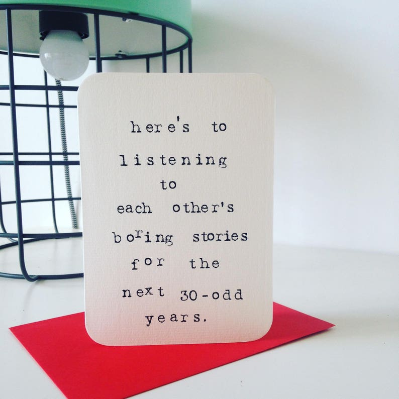 Mardy Mabel Wedding Card: here's to listening to each image 0