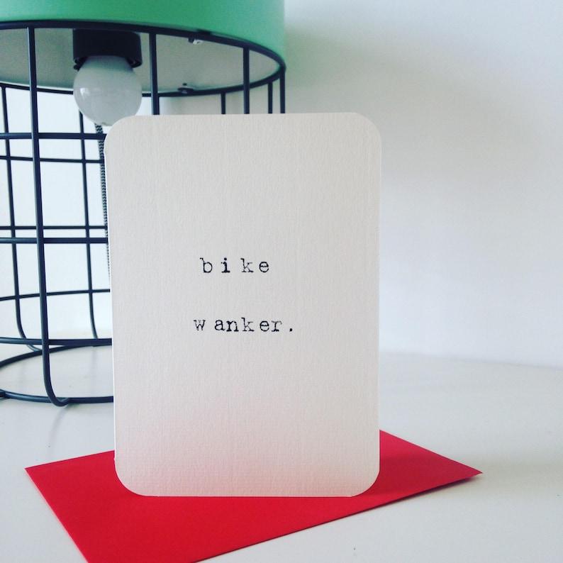 Mardy Mabel Card: bike wanker. image 0