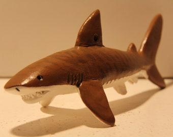 Tiger Shark Figure/Ornament, 100% Handmade