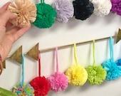 "Raffia Pom Poms with Loops for Crafts, Easter Decor, Spring Crafts, Raffia Purse Charm, Pom Pom for headband, DIY Project, Handmade 2.5"""