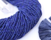 Tiny Lapis Lazuli, Tiny Heishi Beads, 2mm Blue Stone Rondelle Spacer Beads | Jewelry Making Supplies | Made in Afghanistan, Approx 345 beads