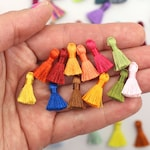 The Tiniest Silky Tassels, Jewelry Making, Tassels for Earrings, 2cm, Handmade Mala Supply, High End Tassel Supplier, You Choose 8+ Colors