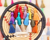 "Mini Silky Jewelry Making Tassels, 1.25"" Mini Silky Earring Tassels, Handmade Fair Labor Silky Tassel Supplier, High Quality, You Choose 8+"