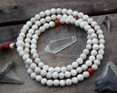 Lotus: 7mm White Lotus Seed Beads,108 beads for making yoga-inspired jewelry, Natural Cream Colored Seeds from India, Speckled, Grey