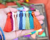 """Silky Tassels, 2 Inch Necklace Charms, Handmade Luxury Jewelry + Mala Making Tassels, Quality Tassel Supplier, 2"""", You Choose 3+ Colors"""