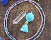 Boho Stripes Vinyl Record Beads, Vintage African Waist Beads, Pink, Blue, Green, 4mm Bohemain Tribal Jewelry Making Supplies, Heishi Discs