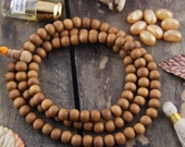 9mm Sandalwood Beads, 108 Aromatic Authentic Natural Fragrant beads from India, Brown Wood Beads, Boho, Yoga Mala Jewelry Making Supply