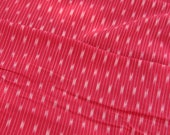 """Red Ikat Handloom Traditional Indian Fabric, Hand-Dyed Cotton, Hand Woven Light Weight Fabric for Sewing, Designer Quality, 1 Yard x 43"""""""