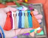 "Silky Tassels, 2 Inch Necklace Tassels, Handmade Luxury Jewelry Tassels, Quality Tassel Supplier, 2"", You Choose 3+ Colors"