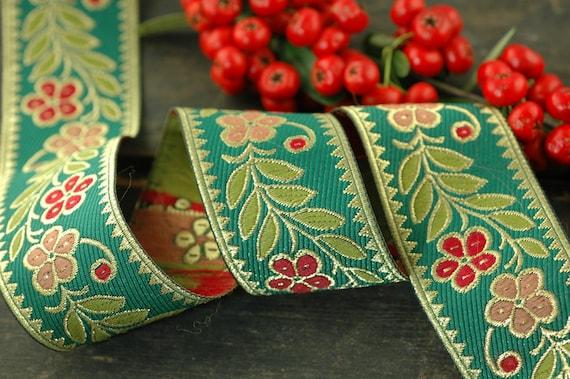 Tis Die Jahreszeit Festliche Rot Grun Trimmen Band Sari Etsy