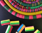 Wholesale Listing: Vintage African Vinyl Record Disc Beads, You Choose which 6 strands / Tribal Wholesale Jewelry Making Supplies, Heishi