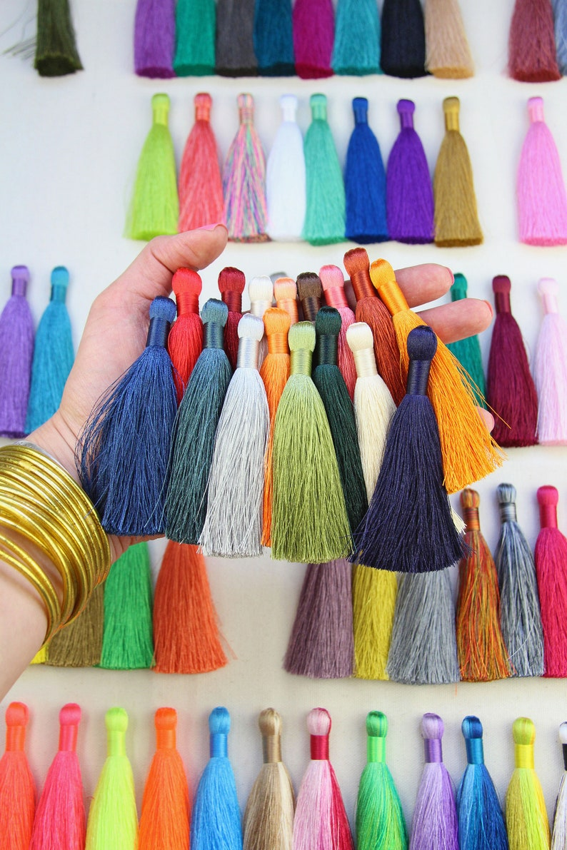 Silky Luxe Jewelry Making Tassels 3.5 Tassels for image 0