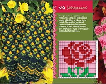 Siberian Flowers: a Patternbook of 16 Flower Motifs IN ESTONIAN