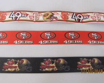 san francisco 49ers 78 grosgrain ribbon by the yard
