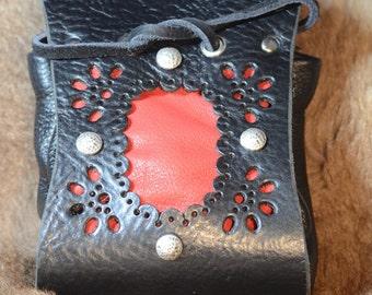 Cuero bolsa Borsello veneciano Nero Pirata