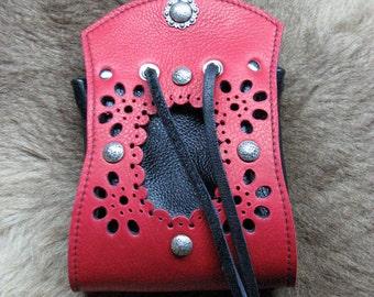 Bolsa de cuero Borsello veneciano Pirata Rouge