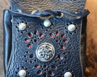 Bolsa de cuero Borsello veneciano Nero Pirata Due