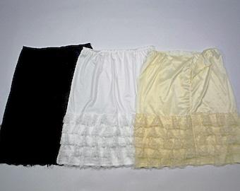 Junior-sized Adjustable Waist Slip Skirt Extender- Multiple options available!
