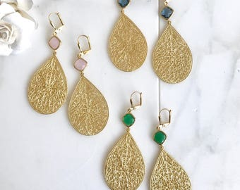 Gold Statement Chandelier Earrings.  Dangle Earrings.  Statement Earrings. Jewelry Gift. Modern Fashion Drop Earrings. Chandelier Earrings.