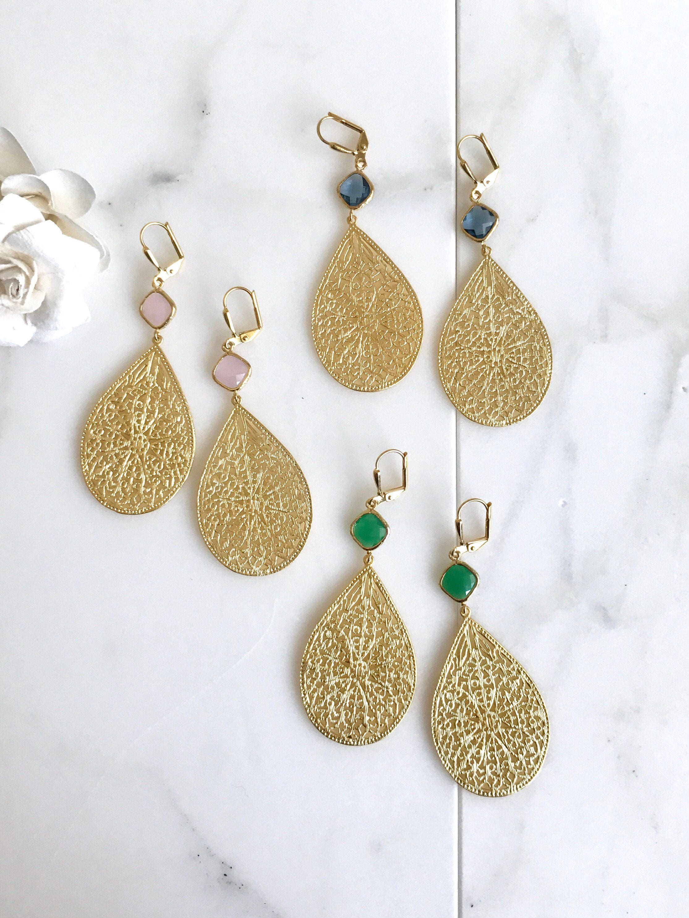 Gold statement chandelier earrings dangle earrings statement gold statement chandelier earrings dangle earrings statement earrings jewelry gift modern fashion drop earrings chandelier earrings aloadofball Choice Image
