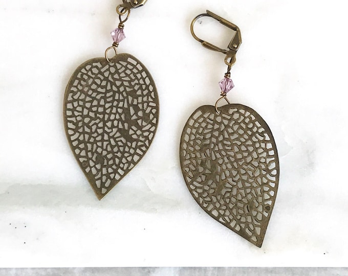 Leaf Dangle Earrings.