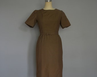 1960s Wiggle Dress with Bow Belt and Matching Jacket