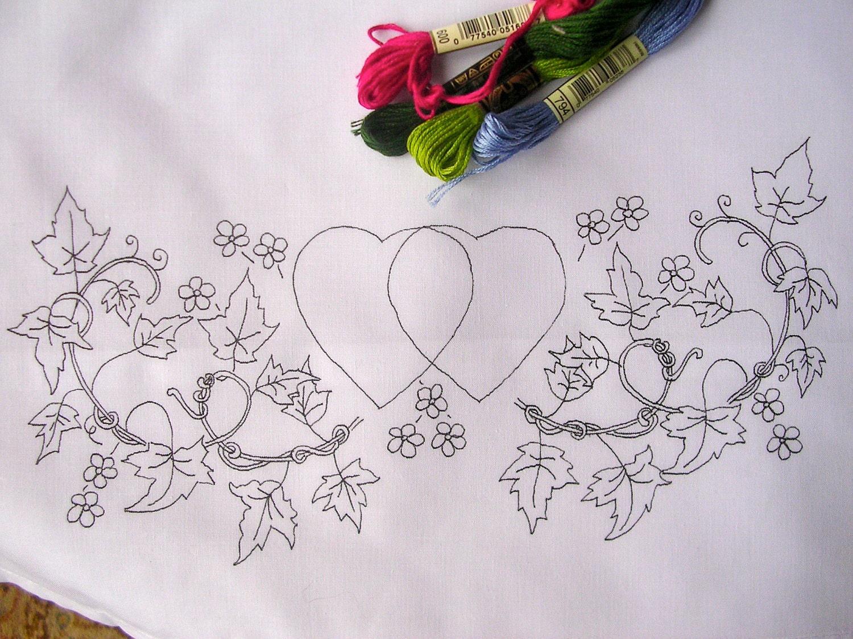 Fundas de almohada con corazones y flores el diseño del   Etsy