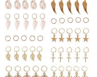 Inventory Clear  Out FREE SHIPPING  10 Braid hair rings, braid accessories, rings for hair, jewelry for braids