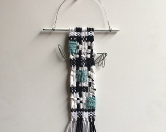 Spinuva- small fiber wall-hanging, woven, new and repurposed materials